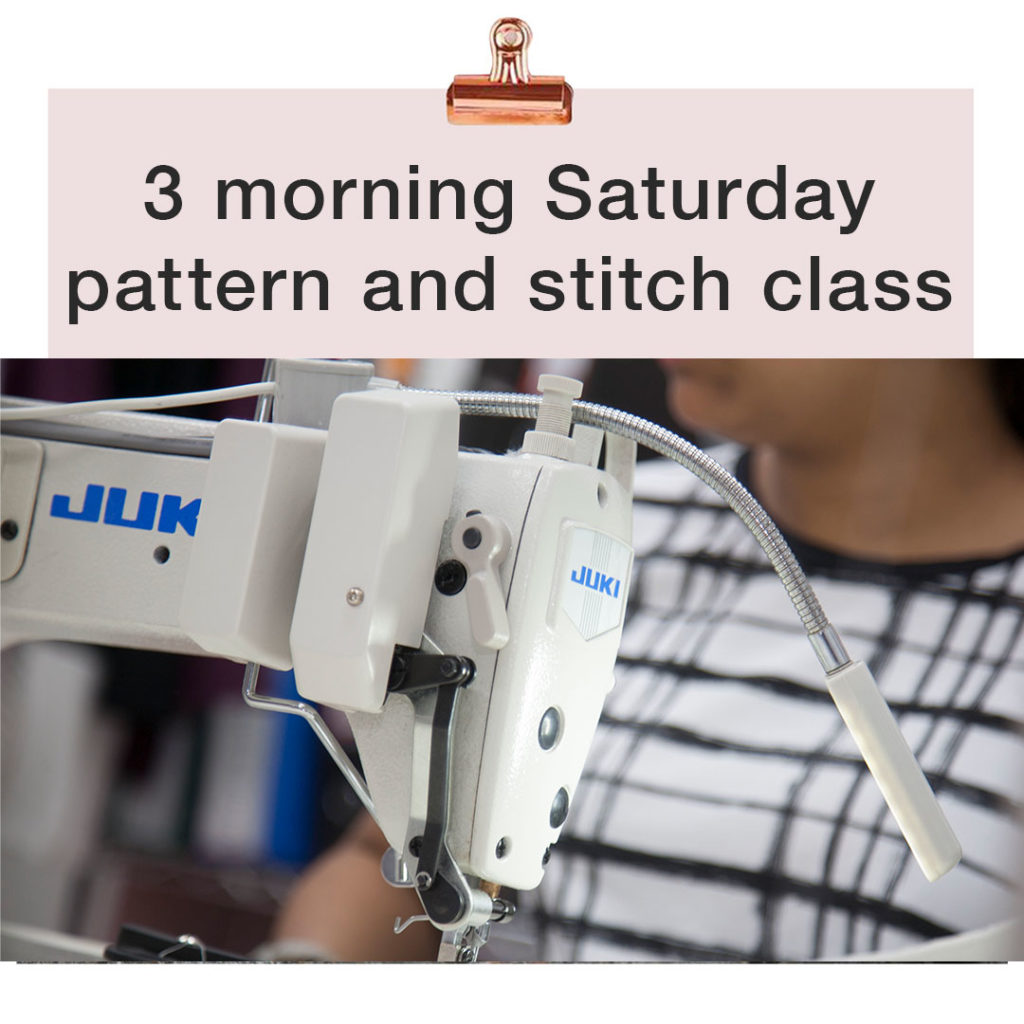 pattern cutting and stitching morning classes