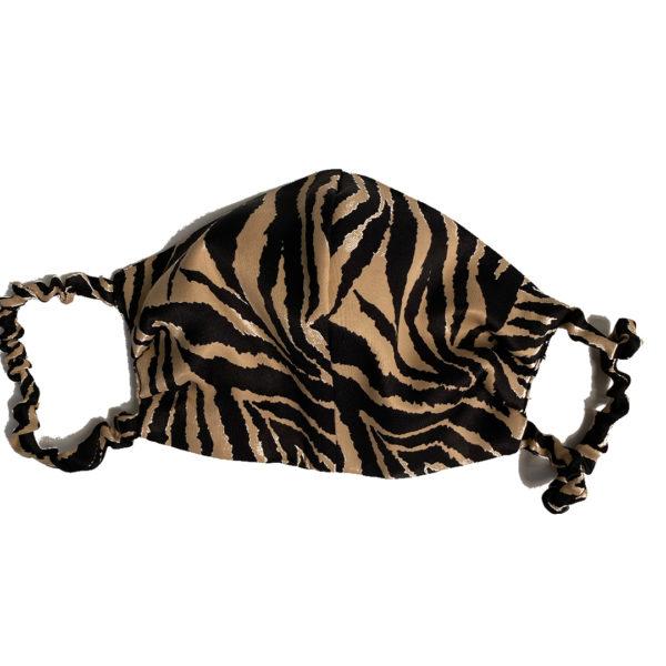Leopard print silk face mask